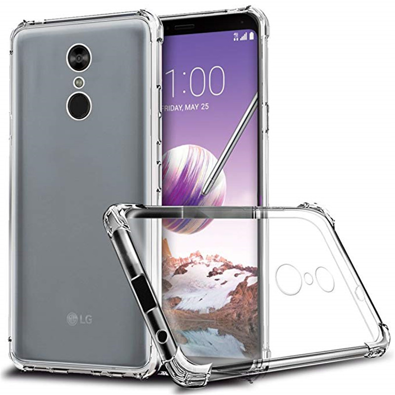 Airbag Drop Protection Case For LG Q Stylus Plus Transparent Phone Case Soft TPU Clear Cover For LG Stylo 4 Plus Q8 2018 Case