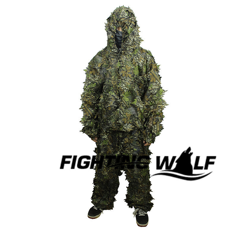 ФОТО 3D Leaf Tactical Camouflage Camo Sniper Ghillie Suit Paintball Airsoft Military CS War Game Shooting Hunting Camouflage Uniform