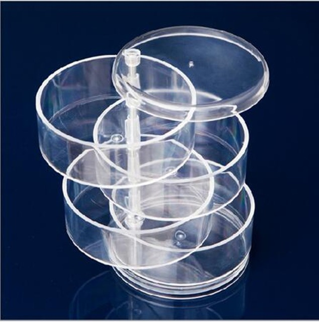 Free Shipping Clear Acrylic Cosmetic Makeup Case Holder Drawers Jewelry Storage Box Gift 3