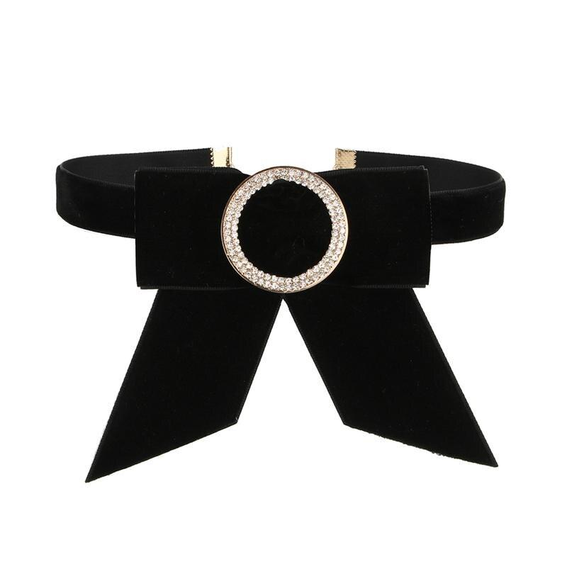 Krawatten & Taschentücher FrÄulein M Frauen Samt Bowknot Dekorative Fliege Halskette Hemd Kragen Passenden Chocker Gefälschte Kragen Mode Schwarz Krawatte Für Damen Schrecklicher Wert
