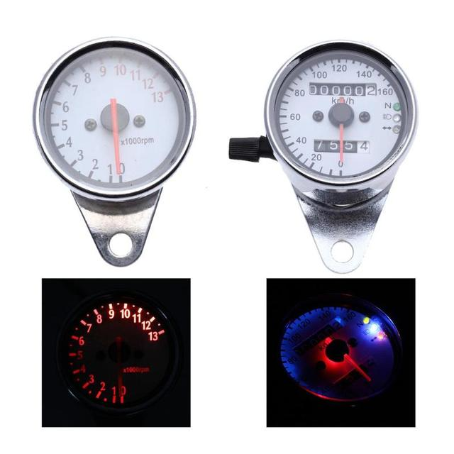 Dual Odometer Speedometer + Tachometer Motorcycle with Backlight