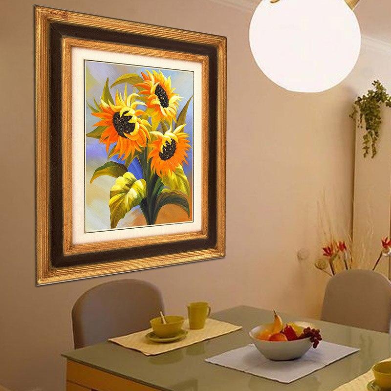 Hermoso girasol 5d Diy kits de pintura de diamante Bordado redondo - Artes, artesanía y costura - foto 5