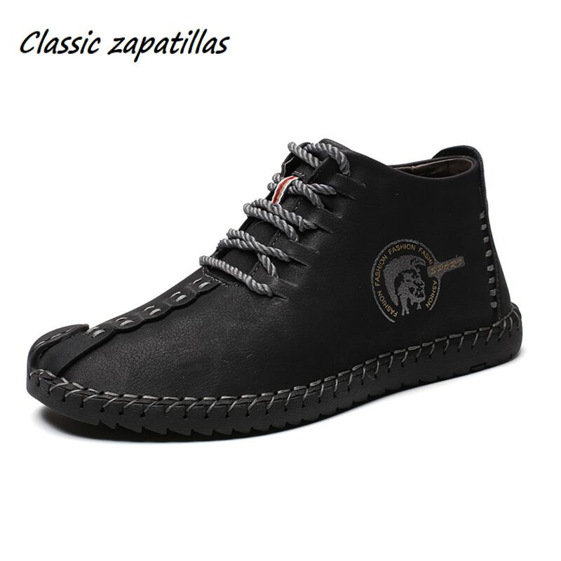 Classic Zapatillas Autumn Winter Men Boots With Fur Warm Snow Boots Men Winter Boots Large Size Casual Shoes Men Ankle Footwear