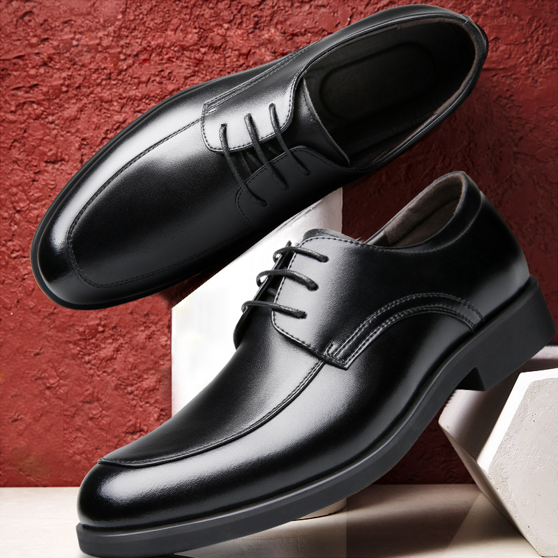 2018 Men Dress Shoes Simple Style Quality Men Oxford Shoes Lace-up Brand Men Formal Shoes Men Leather Wedding Shoes hjm89 klywoo brand new simple style men dress shoes leather breathable lace up oxford shoes for men fashion oxford zapatos hombre