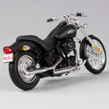 Maisto 1/18 harley motor hitam model diecast 2008 malam kereta motor model die cast motor mainan diecast 39360