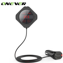 Onever Handsfree Bluetooth Wireless FM Transmitter Modulator Car MP3 Player TF / SD Memory Card USB LCD Car Accessories black
