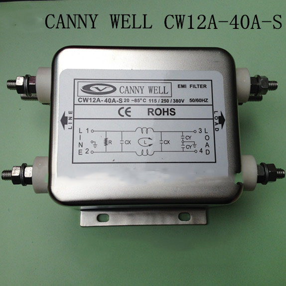 CW12A-40A-S power supply filter staticizer 10 V 50V 380V 40A Electrical Equipment Adapters Power Supplies shanghai people s electrical efet single phase meter dds7666 40a