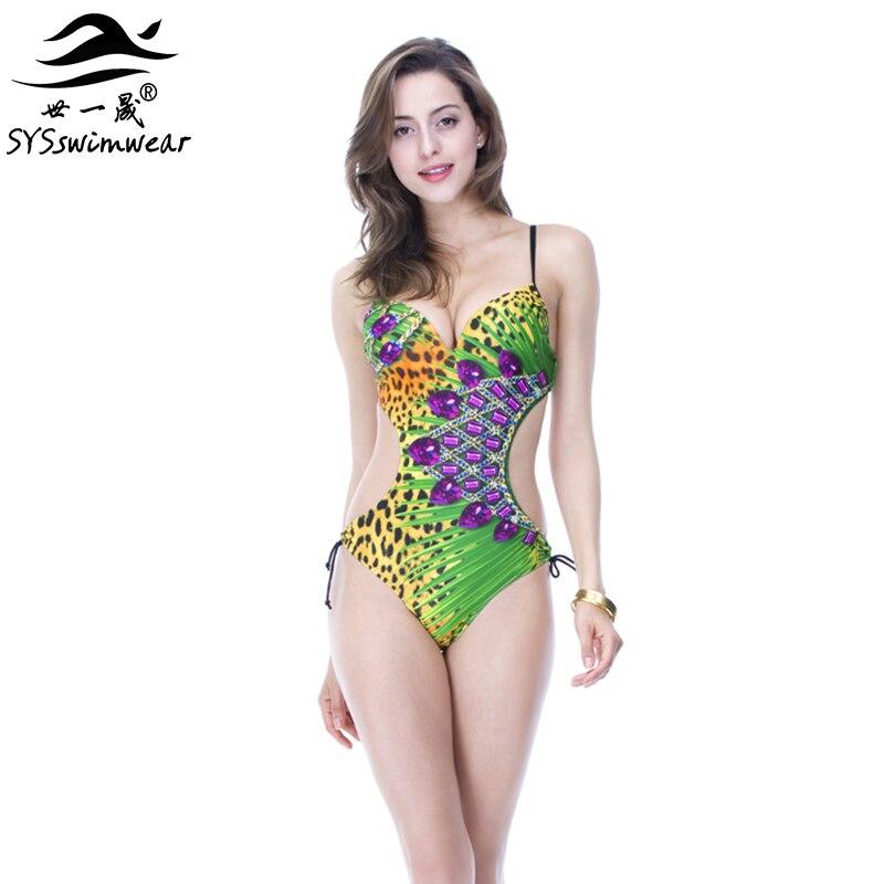 Высококачественный Леопардовый сексуальный цветочный женский цельный купальник с открытой спиной, винтажный купальный костюм на косточках, 2 цвета, купальник
