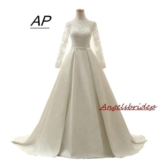 Vestido De Noiva 2018 Hochwertigem Chiffon Hochzeit Kleider Oansatz ...