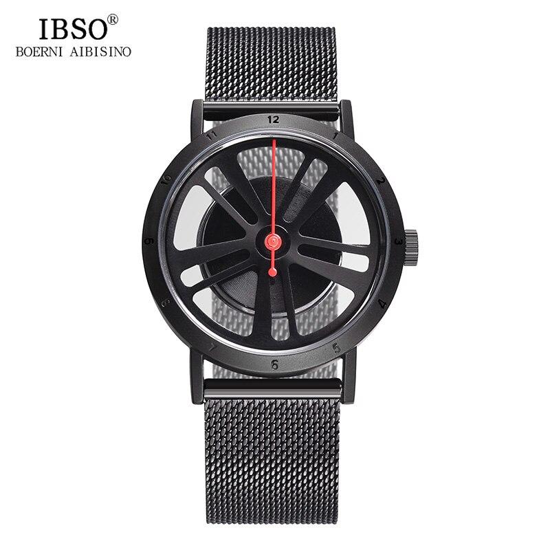 Promo ibso marca de moda creativo dise o de rueda girar deporte reloj de cuarzo de los hombres - Papel pintado de los 70 ...