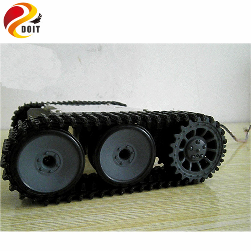 Official DOIT RC Tank Chassis Crawler Intelligent Barrowload Tractor Obstacle Caterpillar Wall-e Infrared Ultrasonic Patrol DIY official doit rc metal tank chassis wall caterpillar tractor robot wall e crawler wall brrow land car diy rc toy remote control