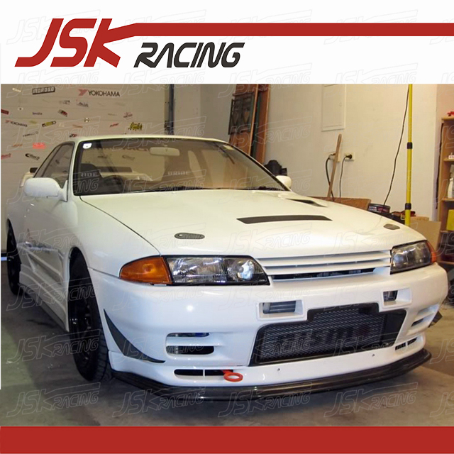 US $179 0 |1989 1994 JSK STYLE CARBON FIBER FRONT BUMPER CANARDS (2 PCS)  FOR NISSAN R32 GTR-in Styling Mouldings from Automobiles & Motorcycles on