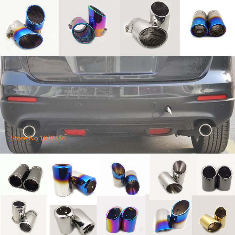 For <font><b>Mazda</b></font> CX-9 <font><b>CX9</b></font> 2013 <font><b>2014</b></font> 2015 2016 car cover muffler exterior end pipe outlet dedicate stainless steel exhaust tip tail hood image