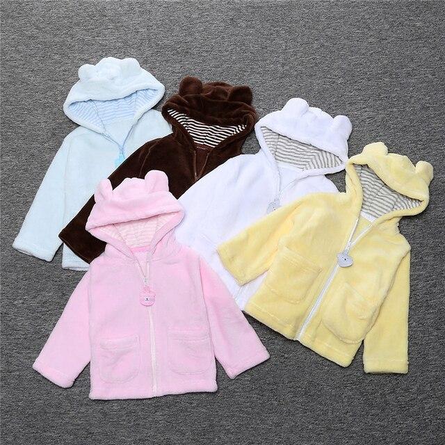 2016 Winter Baby Boy & Girls Coats jackets and coats children clothing coral fleece Animal Bear style children coat SY101