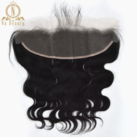 Body Wave Transparent Lace Frontal 13X4 Clear Lace Closure Natural Black Free Part Remy Peruvian Human Hair For Women 10 20 In
