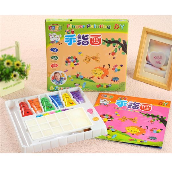 6pcs/Set DIY Finger Painting Sets Paint Coloring Book Best Children ...