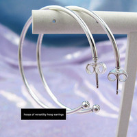2019 NEW Perfect Charm Carved S925 Silver String hoops of versatility hoop earrings charm jewelry,1pz