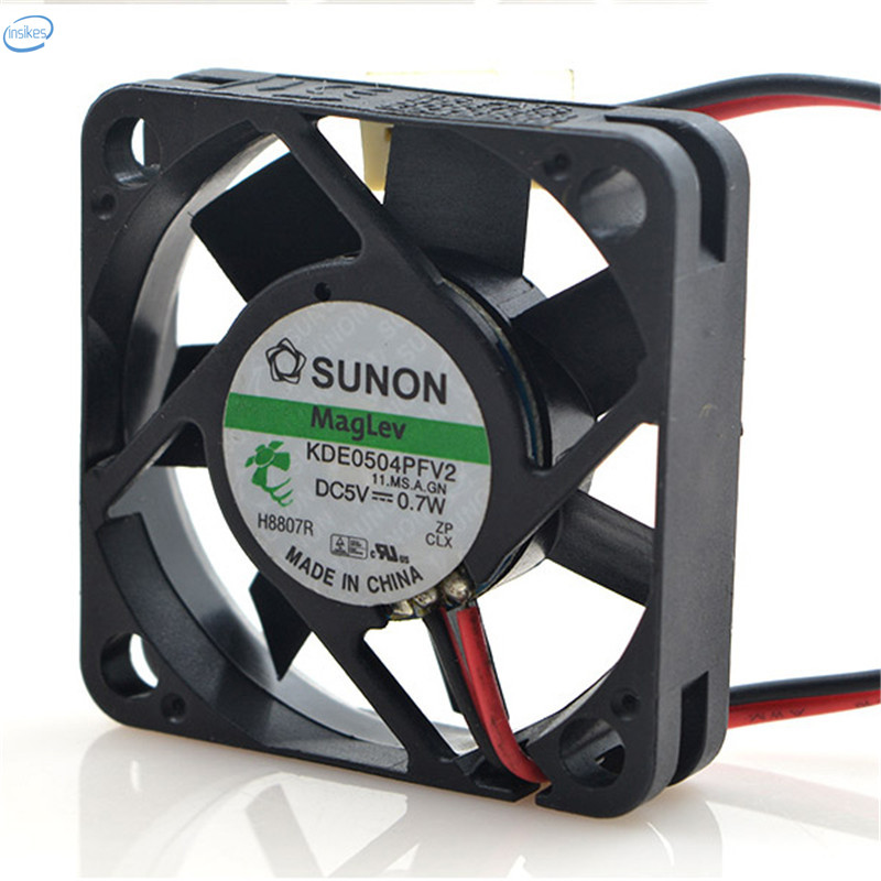Original KDE0504PFV2 Computer Blower Double Ball Cooling Fan DC 5V 0.7W 0.14A 4010 40*40*10mm 5800RPM 2 Wires