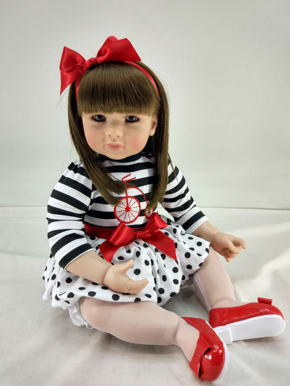 50cm Silicone Reborn Baby Girl Doll Toys Vinyl Princess Toddler Doll Girls Brinquedos Lovely Child Kids Toy Birthday Gift 50cm silicone reborn babies doll toys lifelike vinyl lovely princess toddler doll kids birthday gift child girl brinquedos