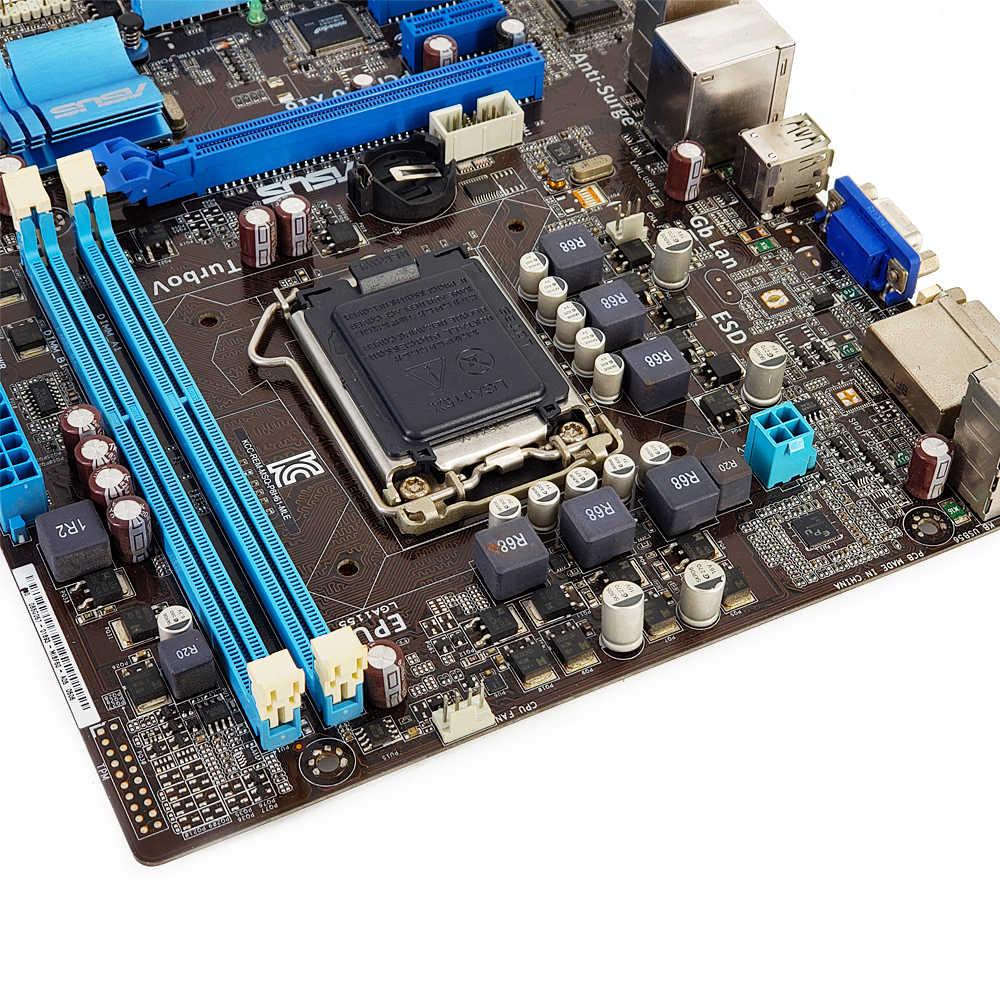 Asus P8H61-M le desktop placa-mãe h61 soquete lga 1155 para core i3 i5 i7 ddr3 16g sata2 usb2.0 uatx original usado mainboard