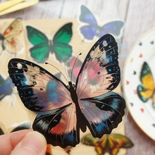 28pcs Tropical Rainforest Butterfly Jungle Style PVC Sticker Scrapbooking DIY Gift Packing Label Decoration Tag