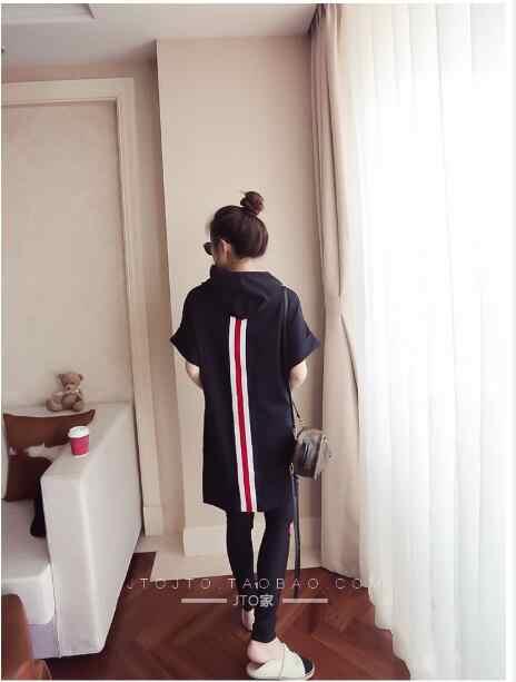 Черный белый stripetracksuits Для женщин Костюмы из 2 предметов 2018 летние пикантные футболка Топы и штаны комплект Повседневное Bodcon комплект из 2 предметов A476