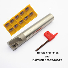 1PCS 20mm Face Milling Holder BAP300R C20 20 120 150 200mm APMT1135 M2 H2 CNC Lathe Mill Cutter Tool Carbide Inserts Set bap 300r c20 20 120 d20 length 120 milling tool holder face mill for cnc milling machine for insert apmt1135 apmt1135pdr apmt