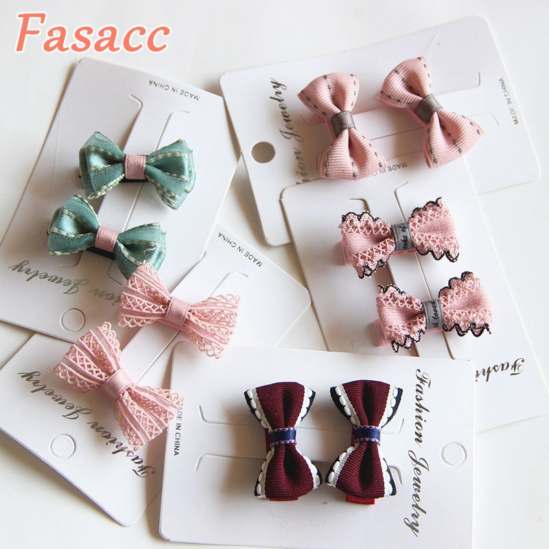 2pcs/Lot  Children Hair Clips Small Hair Bow Clip Baby Barrettes BB Clip Little Girls Gifts Korean Kids Hair Accessories A198