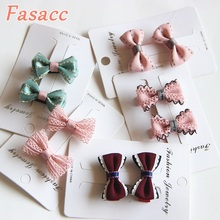 2pcs/Lot  Children Hair Clips Small Bow Clip Baby Barrettes BB Little Girls Gifts Korean Kids Accessories A198