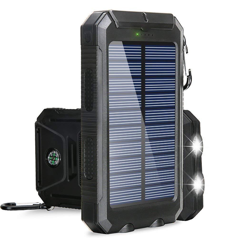 18650 30000mAh powerBank Waterproof portable Power Flashlight Mobile Battery Charging Phone Pover Bank Solar For Xiaomi iphone8