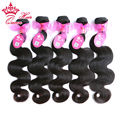 "Queen Hair Products 100% Brazilian Virgin Hair Body Wave Hair 5pcs lot 12""-28"" Grade 7A,100% Unprocessed Hair can be dyed"