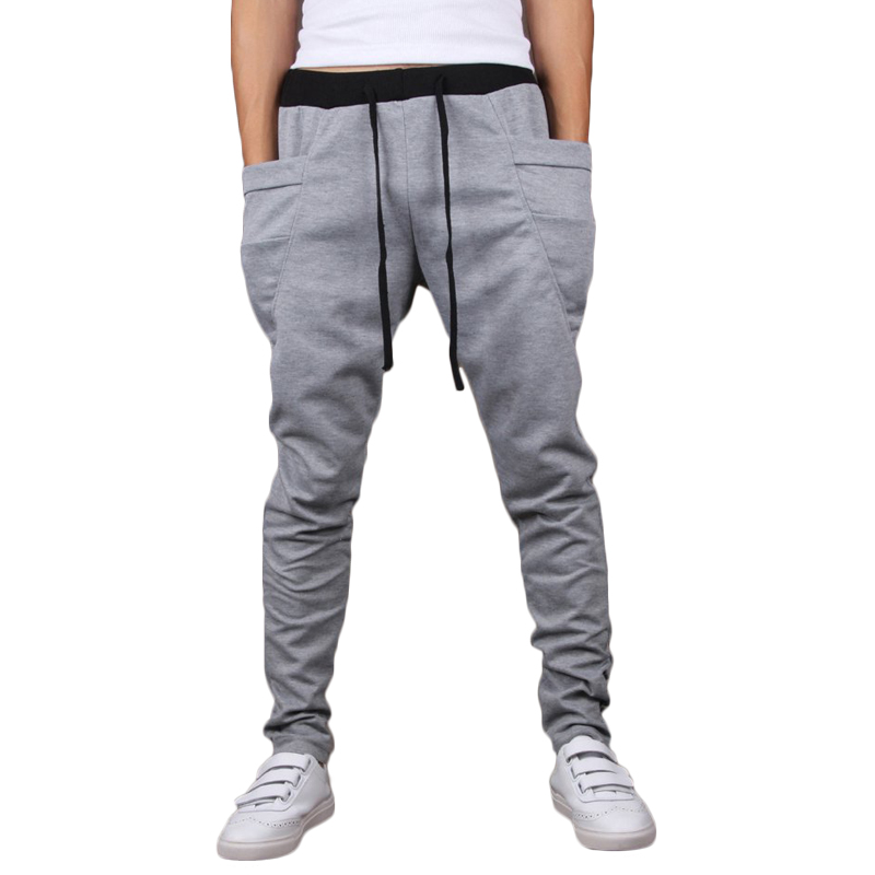 f1756ee6a25d Pants Men Sweatpants Harem Baggy Jogger Casual Pants Running Tracksuit  Bottom Trousers Clothing