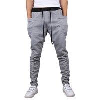 Marka Yeni Moda Erkek Joggers Rahat Harem Sweatpants Pantolon Pantolon Sarouel Erkek Eşofman Altları Parça Joggers