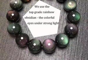Image 5 - Bracelet à perles feng shui en argent 999, bijou à perles obsidienne pour la richesse, Pixiu, porte bonheur