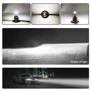 Image 5 - 2 sztuk reflektor samochodowy lampa H7 H8 H11 żarówki LED H1 H4 HB2 czołówki LED 9005 HB3 9006 HB4 6000k światło przeciwmgielne 12V 6000LM lampa LED 36W