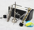 Twisty Glass Blunt 7pipe With Portable Mechanical Metal Twisty Glass 7 Pipe with color Hybird Quartz Titianium nail