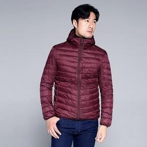 Image 4 - NewBang Plus 11XL 10XL 9XL 8XL Down Coat Male Ultra Light Down Jacket Men Windbreaker Feather Lightweigt Hooded Winter Parka