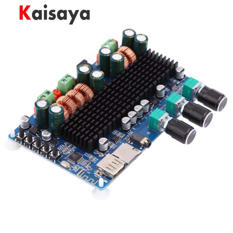 DC 12V 24V TPA3116 50W + 50W + 100W Bluetooth USB TF decoding 2.1 channel digital power amplifier board support MP3 FLAC C5-003