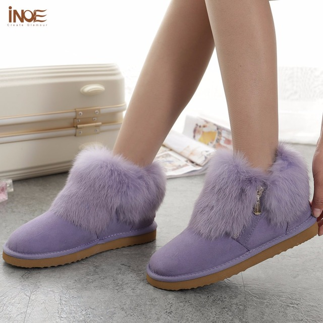 INOE New Fashion Cow Split Leather Women Boots