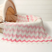 Baby Blankets Newborn Striped Knitted Swaddle Wrap Super Sof