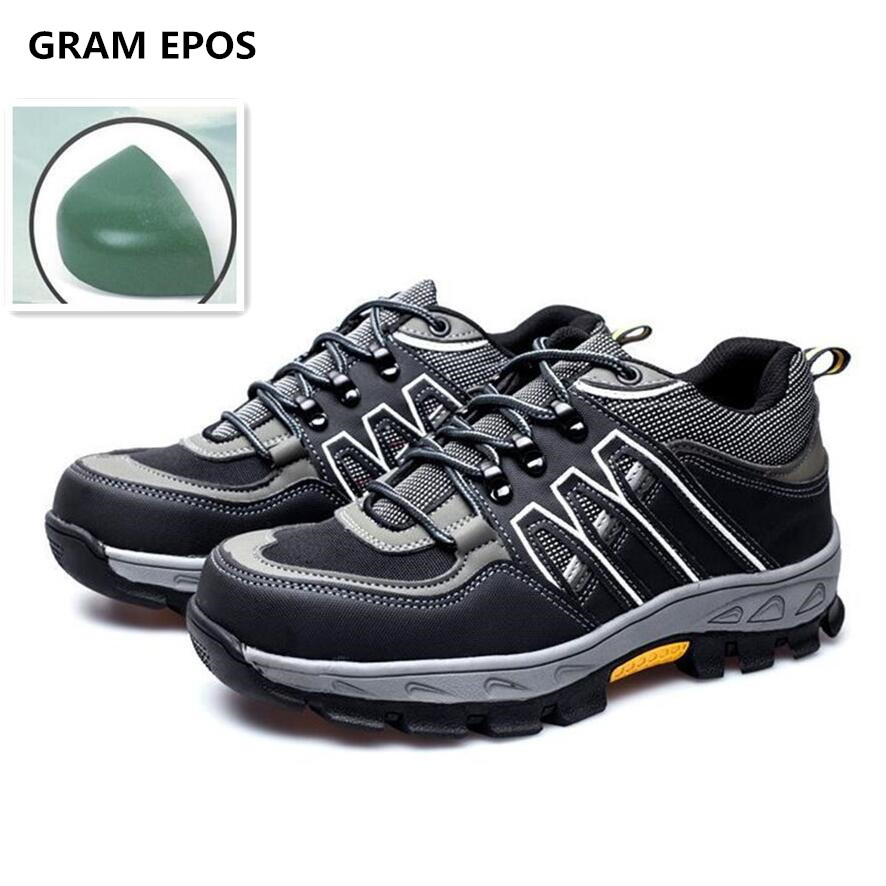 2017 Men Plus size 45  high top Boots Work Safety Shoes Steel Toe Cap Anti-Smashing Puncture Proof Durable  Protective Footwear