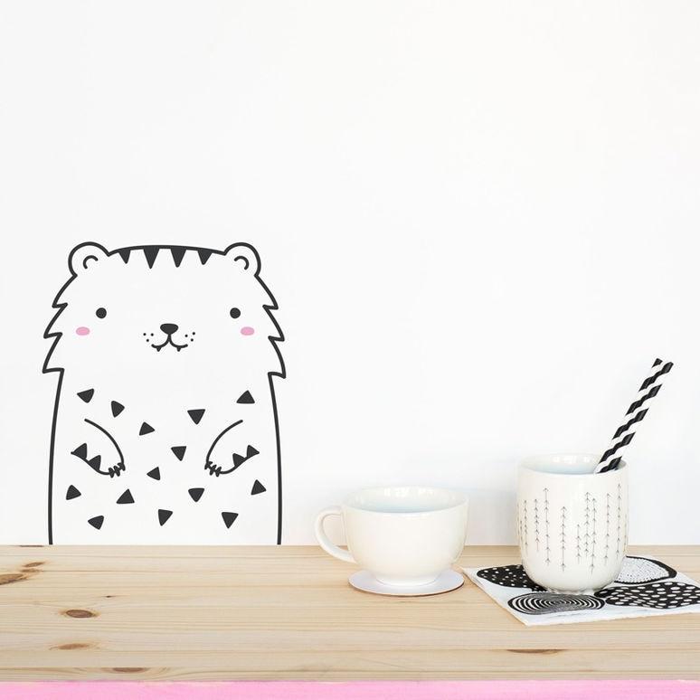 Минимализм Nordic Cute Animal Theme DIY Wall Sticker - Үйдің декоры - фото 2