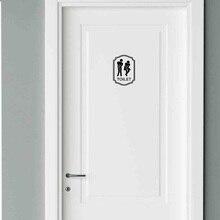 Symbol Door Toilet Bathroom Bath Shower WC Man & Women Funny Sticker Decal  2WS0036
