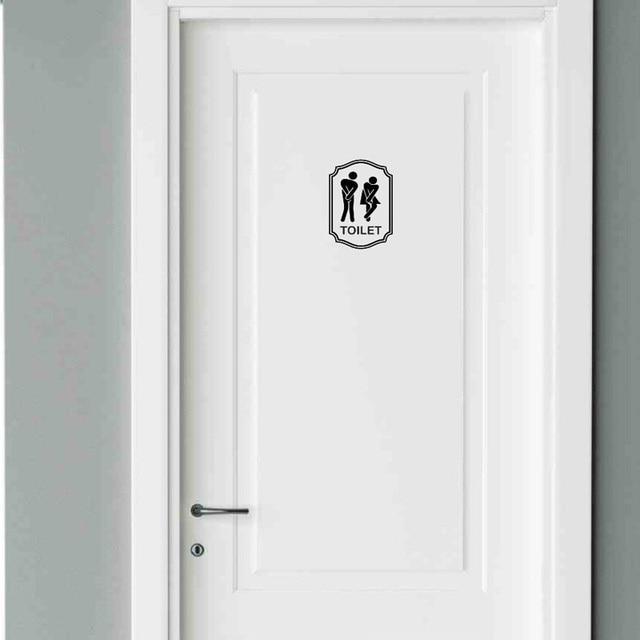 Simbol Pintu Toilet R Mandi Shower Wc Pria Wanita Lucu Sticker Decal 2ws0036