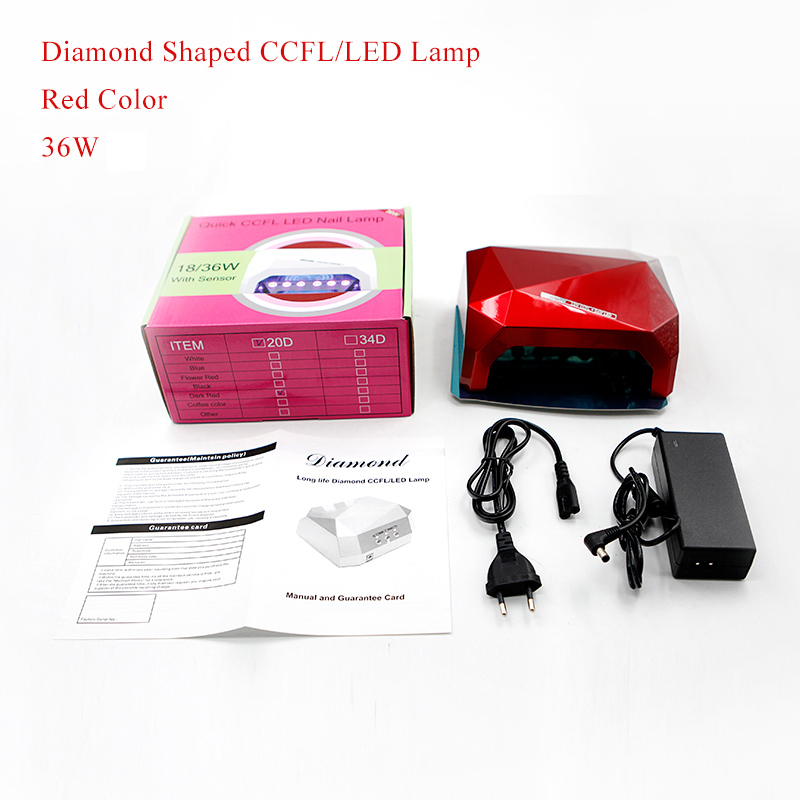 Belle fille uv led lamp diamond shaped uv gel fast curing nail lamp machine energy saving