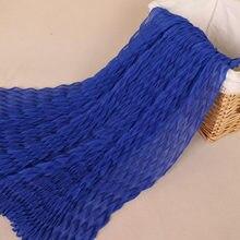Alla moda Ondulazione Musulmano Hijab Rughe Delle Donne Sciarpa Sciarpe di Cotone Testa Sciarpa Pianura Lungo Increspato Scialle Islamico Velo 170x85 cm