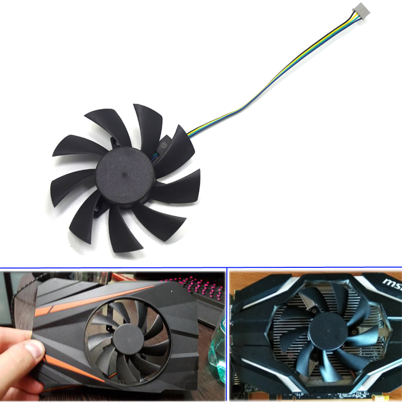 10pcs/lot NEW 85mm T129215SU <font><b>Fan</b></font> Replace For ASUS MSI Gigabyte <font><b>Zotac</b></font> <font><b>GTX</b></font> 1060 Mini <font><b>GTX</b></font> <font><b>960</b></font> RX460 RX550 560 R9 290X Graphic Card image
