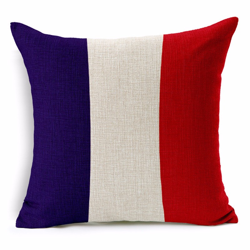 France Pillowcase Cushion Cover