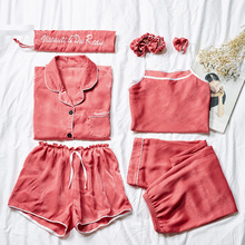 Yidanna Casual Nightwear Sleep Clothing Pajama Set Women Plus Size Premium Female Nightie Long Sleeve Sleepwear