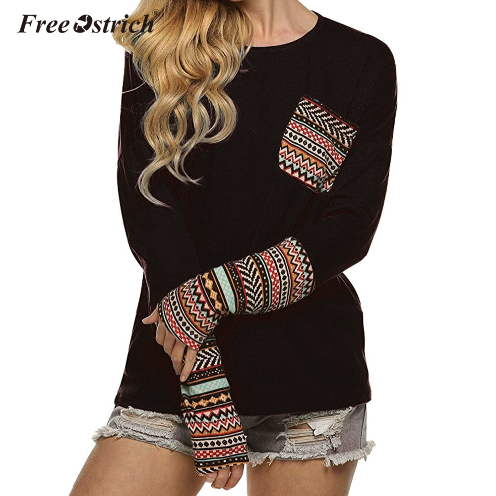 Free Ostrich Sweater Women Pullovers Long Sleeve O Neck Patchwork Casual Loose Jumper Tops D30